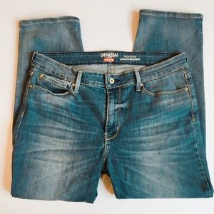 Levi's denizen high rise ankle straight jeans
